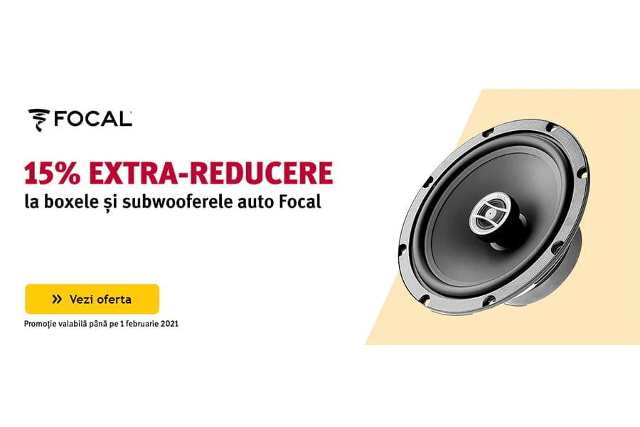 Cod voucher Altex - 15% extra reducere la boxele si subwooferele auto Focal
