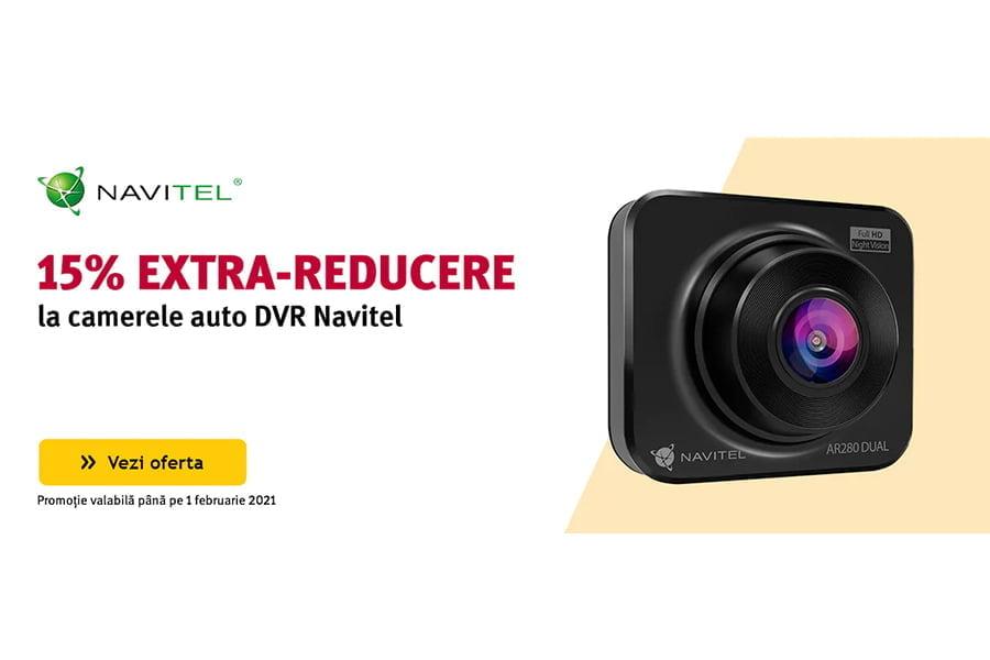 Cod voucher Altex - 15% extra reducere la camerele auto DVR Navitel