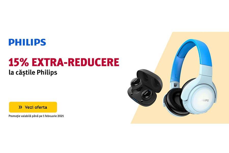 Cod voucher Altex - 15% extra reducere la castile Philips