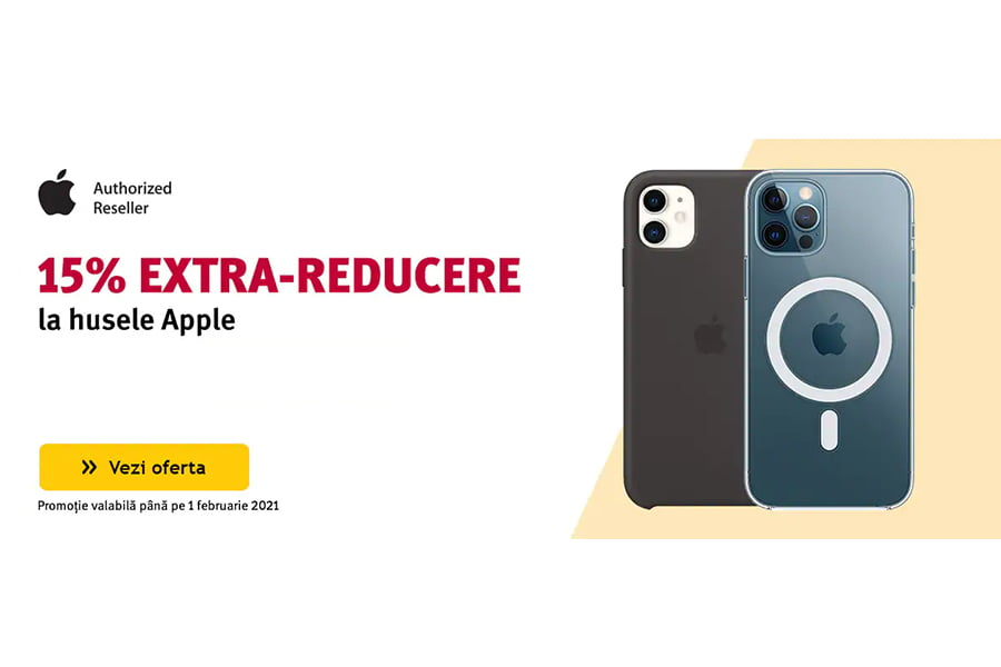 Cod voucher Altex - 15% extra reducere la husele Apple