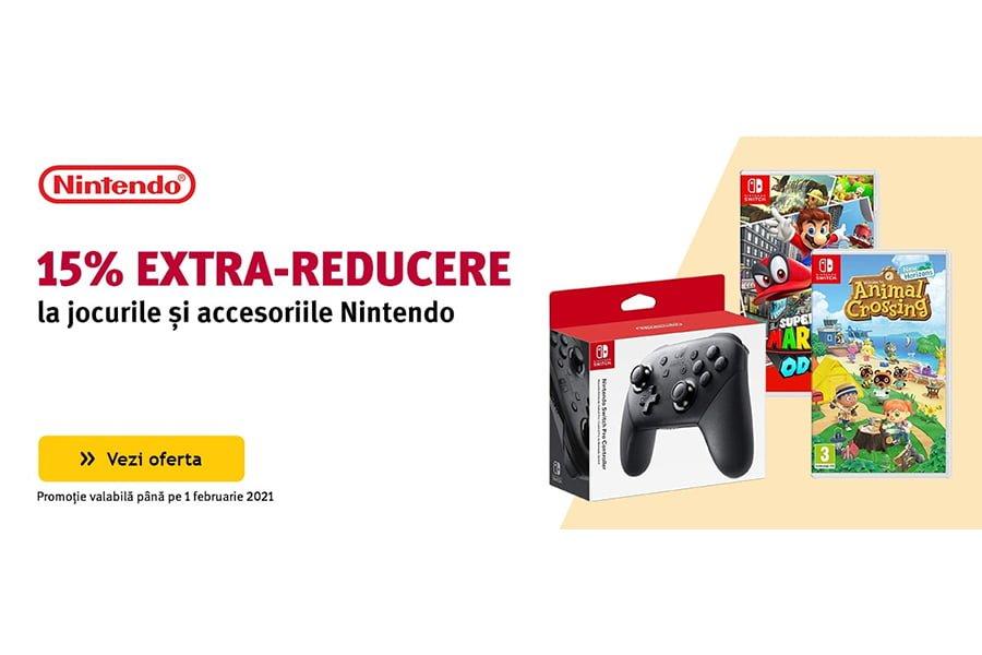 Cod voucher Altex - 15% extra reducere la jocurile si accesoriile Nintendo