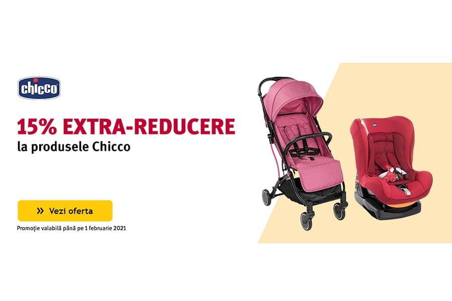 Cod voucher Altex - 15% extra reducere la produsele Chicco