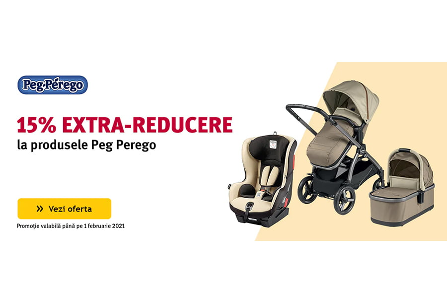 Cod voucher Altex - 15% extra reducere la produsele Peg Perego