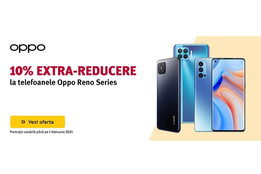 Cod voucher Altex - 10% extra reducere la telefoanele Oppo Reno Series