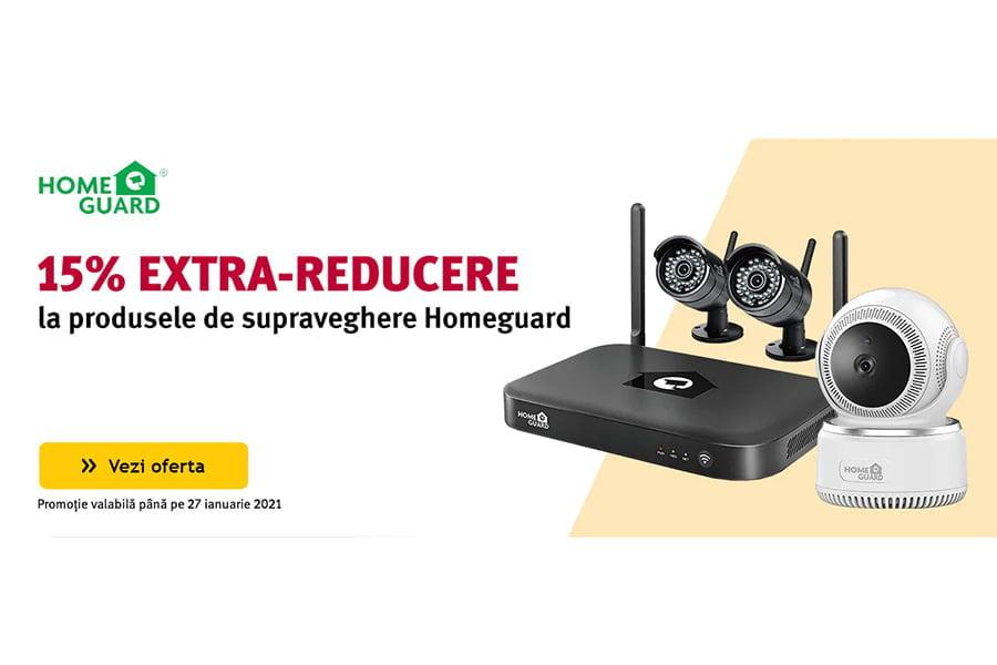 Voucher Altex - 15% extra reducere la produsele de supraveghere Homeguard