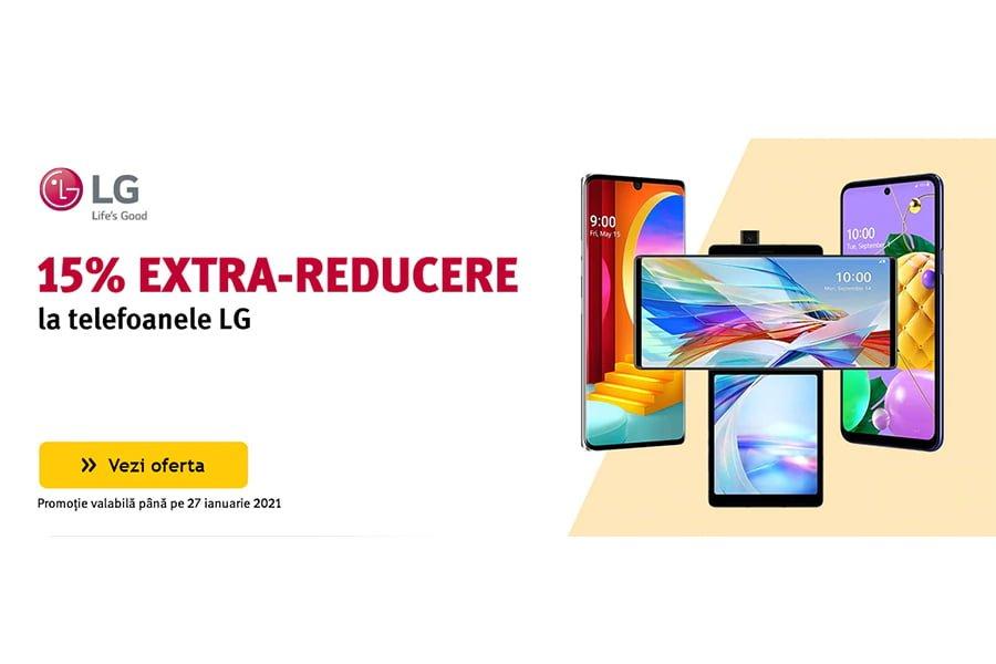 Voucher Altex - 15% extra reducere la telefoanele LG