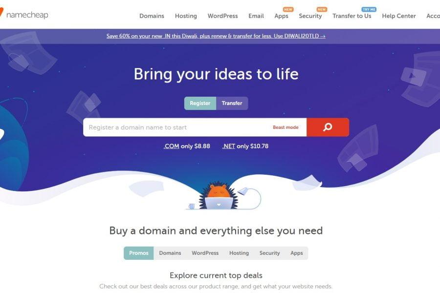 Oferta Namecheap - inregistrare domenii cu 99 centi