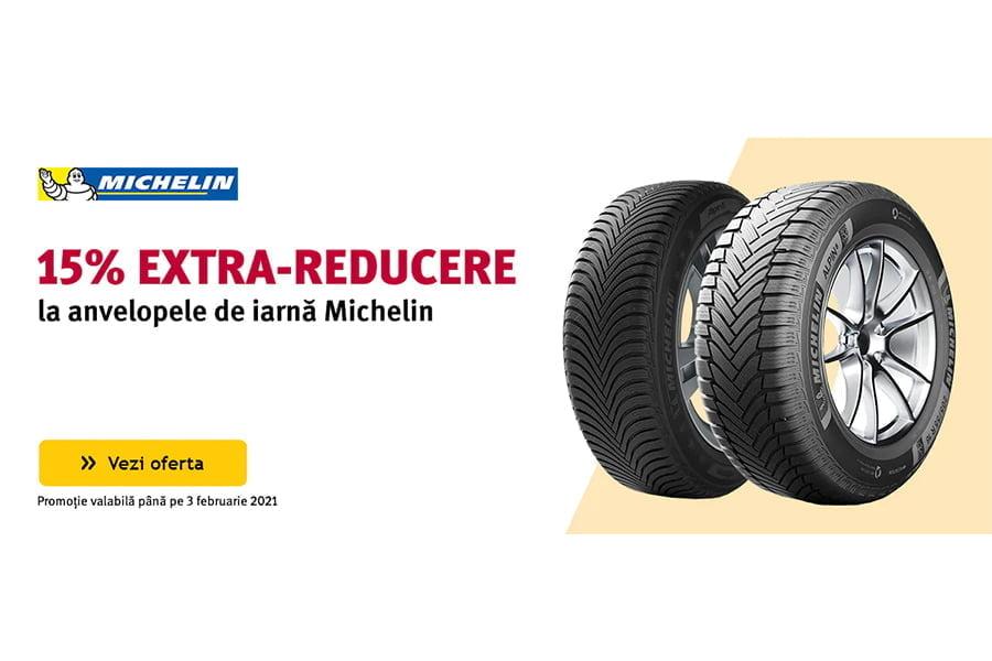 Cod reducere Altex - 15% extra reducere la anvelopele de iarna Michelin