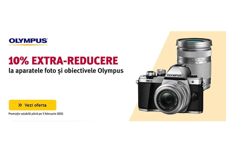 Cod reducere Altex - 10% extra reducere la aparatele foto si obiective Olympus