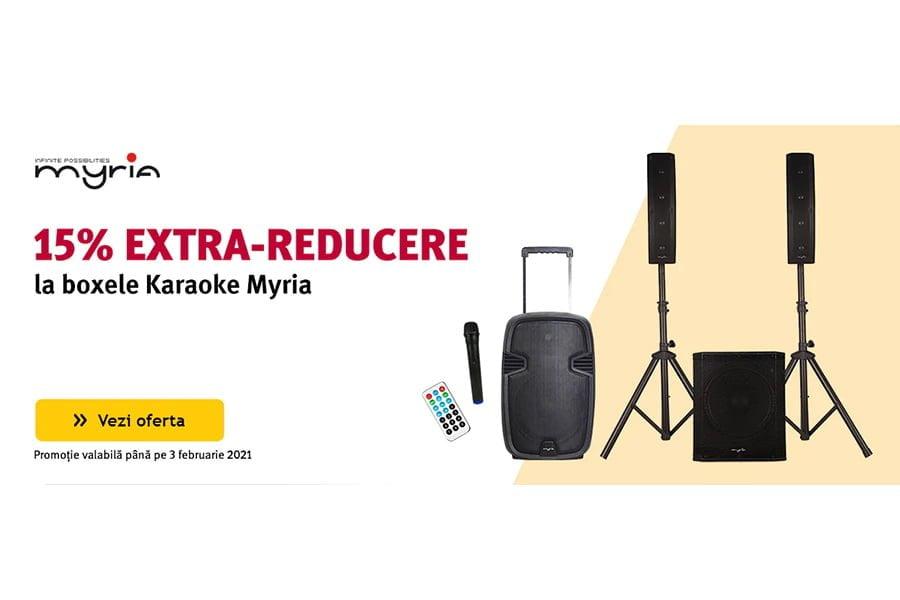 Cod reducere Altex - 15% extra reducere la boxele Karaoke Myria