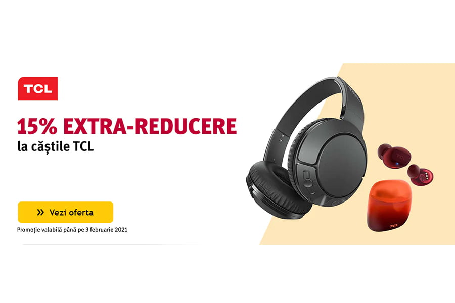 Cod reducere Altex - 15% extra reducere la castile TCL