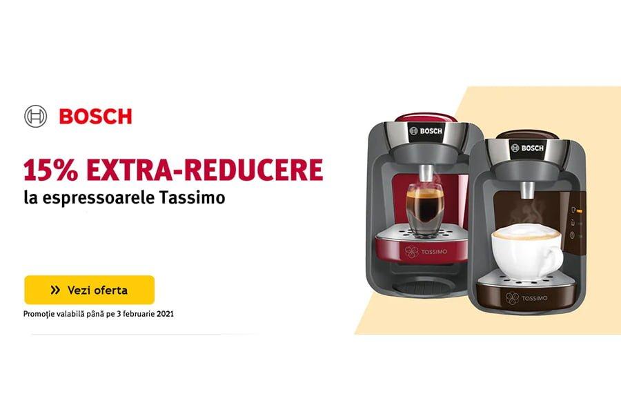 Cod reducere Altex - 15% extra reducere la espressoarele Tassimo