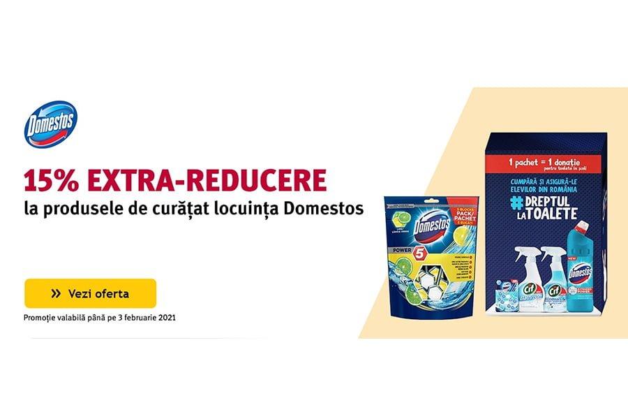 Cod reducere Altex - 15% extra reducere la produsele de curatat locuinta Domestos