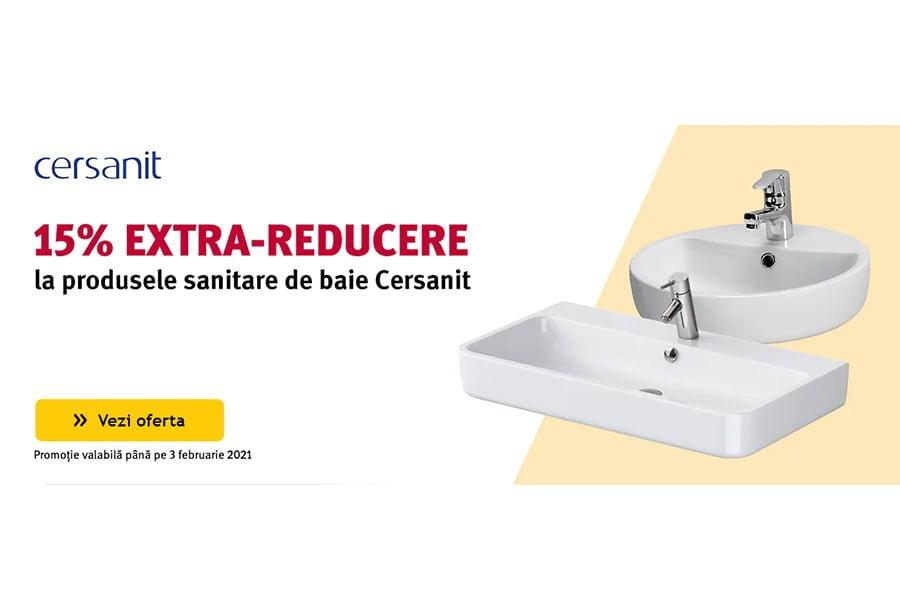 Cod reducere Altex - 15% extra reducere la produsele sanitare de baie Cersanit