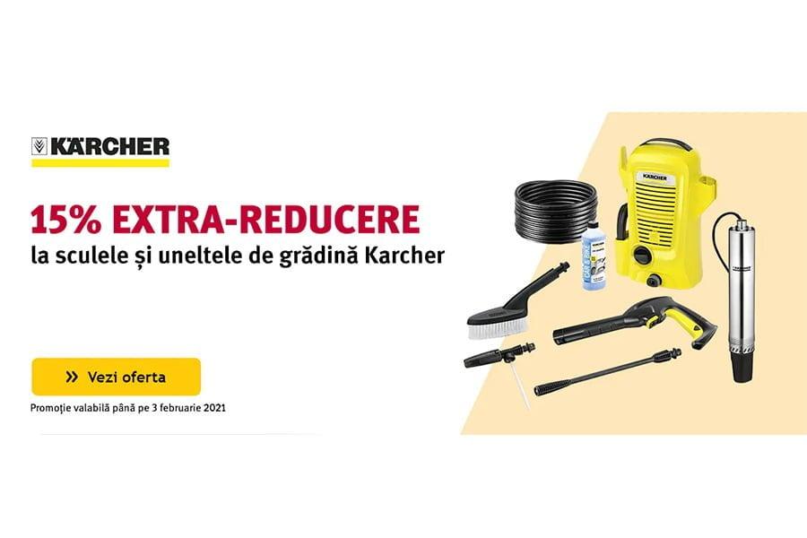 Cod reducere Altex - 15% extra reducere la sculele si uneltele de gradina Karcher