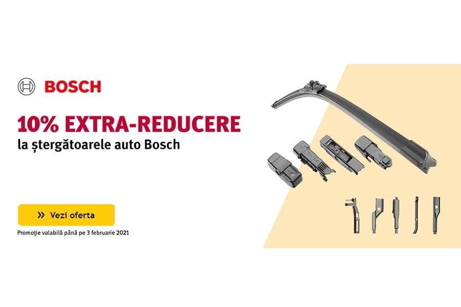 Cod reducere Altex - 10% extra reducere la stergatoarele auto Bosch