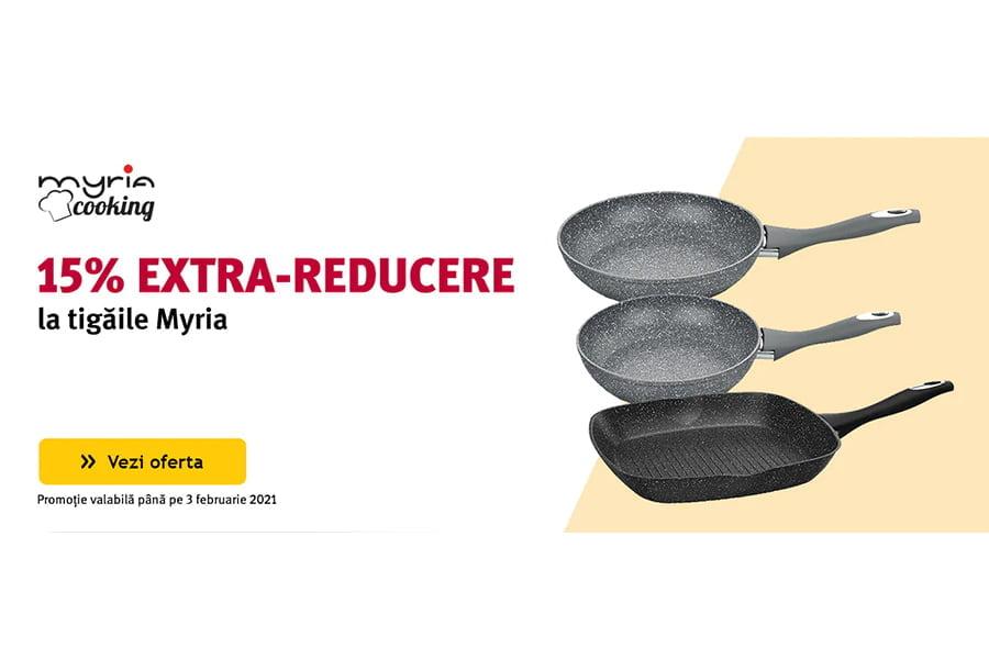 Cod reducere Altex - 15% extra reducere la tigaile Myria