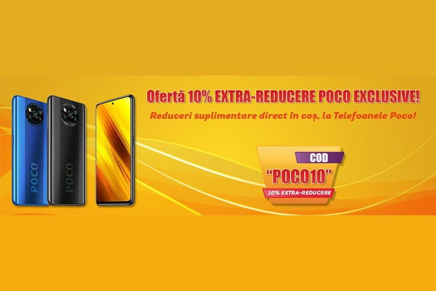 Cod reducere evoMAG - 10% extra reducere la selectia de telefoane Poco X3