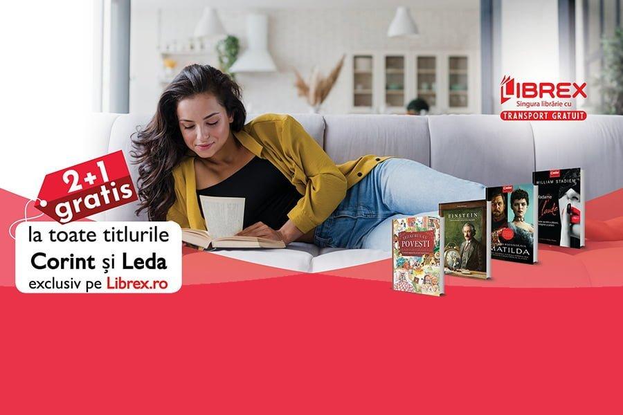 Oferta Librex - 2+1 gratis la titlurile Corint si Leda + transport gratuit