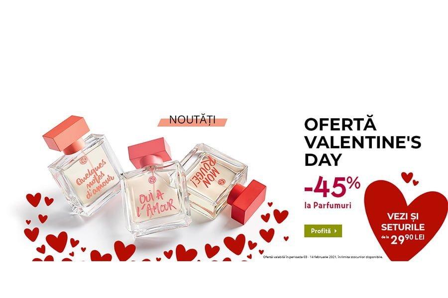 Oferta Yves Rocher Valentine's Day - 45% reducere la parfumuri