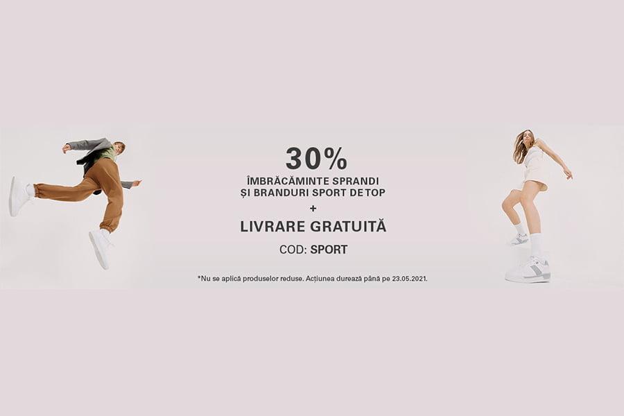 Cod reducere CCC - 30% reducere la imbracaminte Sprandi si braduri sport de top + livrare gratuita