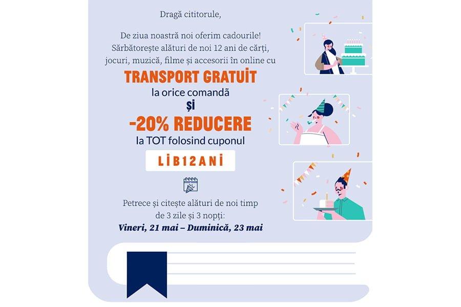 Cupon reducere Libris - 20% reducere la tot si transport gratuit