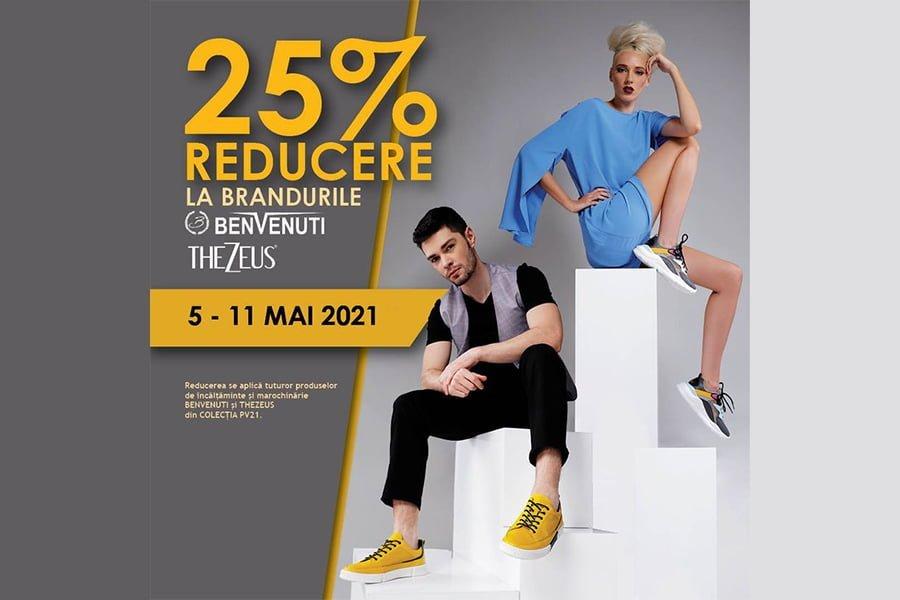 Promotie Benvenuti - 25% reducere la brandurile Benvenuti si Thezeus