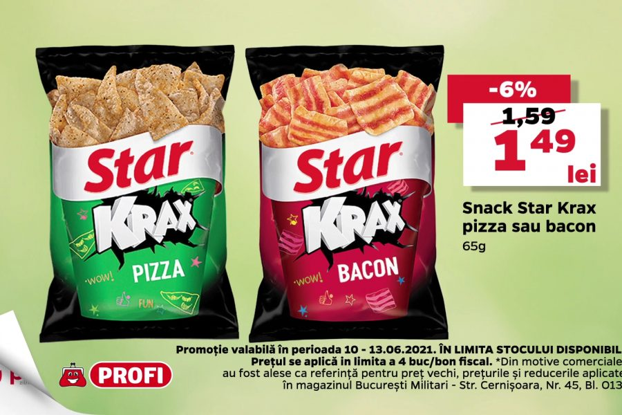 Oferta Profi - Reduceri pe banda - Snack Star Krax
