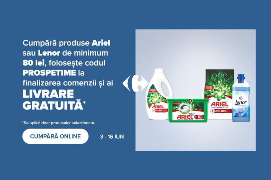 Voucher Carrefour - Livrare gratuita Ariel & Lenor