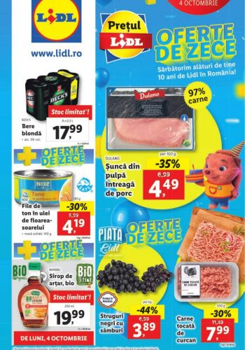 Catalog Lidl 4 octombrie - 10 octombrie 2021
