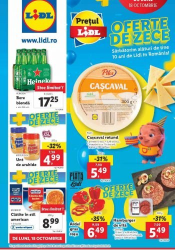 Catalog Lidl 18 octombrie - 24 octombrie 2021